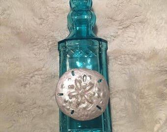 Turquoise Glass Bottle Dispenser