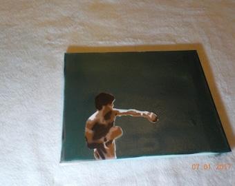 Boxer Spray Paint Art