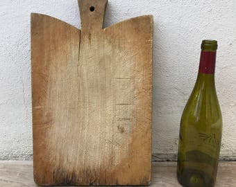 ANTIQUE VINTAGE FRENCH bread or chopping cutting board wood 10021815