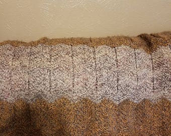 Alpaca & Acrylic Golden Brown and Tans Afghan