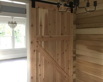 Custom sliding barn wood door