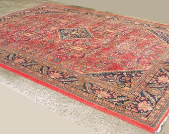 Vintage Rug, Hand knotted Rug, Persian Rug, Carpet, Large Rug, Persian Carpet, 13' x 10', Rug, Handmade Rug, Red Pattern, Delivery Available