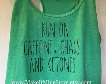 KETONES TANK TOP, Keto shirt, Pruvit, Pruvit shirt, ketones, ketogenic, keto diet, low carb, clean eating, Pruvit tank top, atkins (645R2L)
