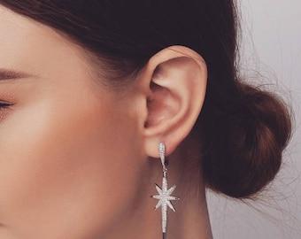VERGARA EARRINGS    Starburst Earrings, Star Earrings, Dangling Earrings