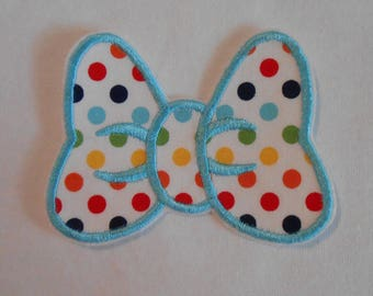 Polka Dot Minnie Mouse Bow Iron on Applique Patch
