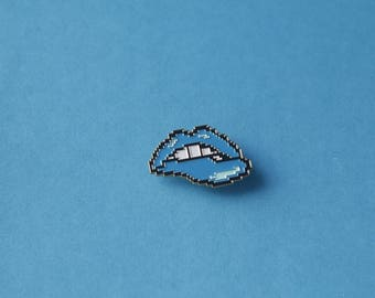 8Bit Lip Bitting Enamel Pin
