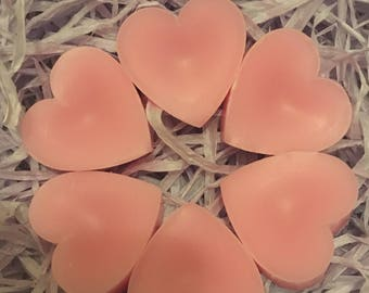Pretty pink candy floss scented wax melts