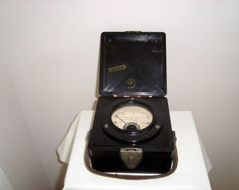 WW2 Air Transport Auxiliary AM Thermo-Ammeter In Bakelite Case. Vintage Scientific Instrument/ Gadget