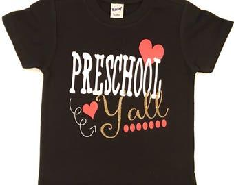 preschool outfit, preschool shirt, shirt for preschool, girl preschool shirt, girl t-shirt, shirt for preschool girls, preschool tshirt,