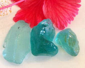 Teal Sea Glass, Light Blue Sea Glass, Rare Sea Glass, Authentic Sea Glass, Loose Gemstones, Jewelry Supplies, Collectibles, Surf Tumbled