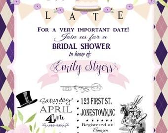Wonderland Bridal Shower Invitation