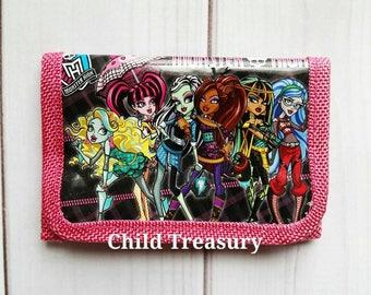 Monster High Wallet/Monster High Accessory/Monster High/Girls Wallet/Toddler Wallet/Kids Wallet/Children's Wallet/Character Wallet