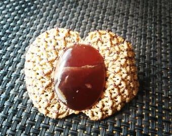 Bracelet macrame and onyx stone