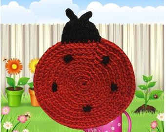 Ladybug Crochet Coaster