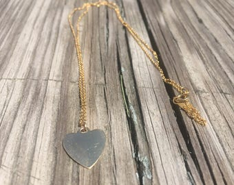 Heart Necklace - Gold Necklace - 14k Gold Heart Necklace - Pendant Necklace - Gold Pendant Necklace - Chain Necklace - Jewelry Gift, For Her