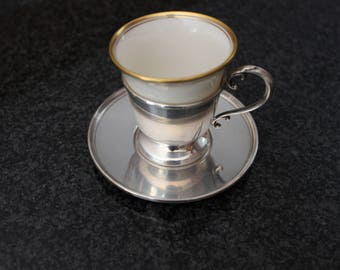 Sterling Silver Lenox Demi Cup and  Saucer