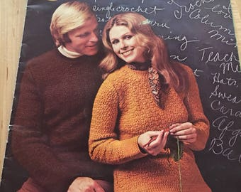 Vintage 1960's Learn to Crochet book