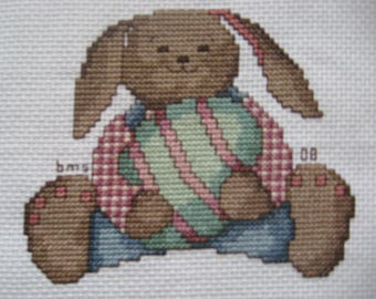 Completed CrossStitch - Easter Bunny