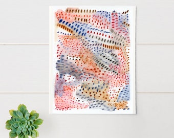 ORIGINAL minimalist watercolour, abstract watercolour art, modern wall art, contemporary watercolour art, gallery wall, multi coloured, 6x8