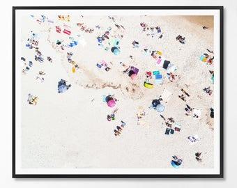 Beach Print, Contemporary Art, Coastal Decor, Coastal Art, Ocean Water Photo, People, Sea print, Minimalist, Landscape, Scandinavian Art