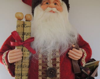 Large Santa Claus Figurine Father Christmas Santa Doll