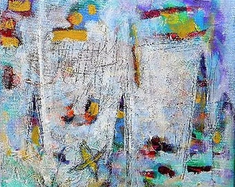 Abstract art, original painting, acrylic painting, colorful art