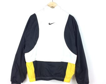 Vintage Nike Windbreaker Jacket / Nike Swoosh / Nike Hoodie / Nike Jacket / Nike Hoodie / Big Swoosh / Nike Big Logo