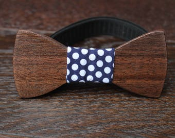 Black Bow tie, wood bow tie, Bow tie for man, Bow tie for Boy, Father's day gift, Groomsmen Gift