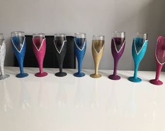Bridesmaid Dress Prosecco Champagne Glass