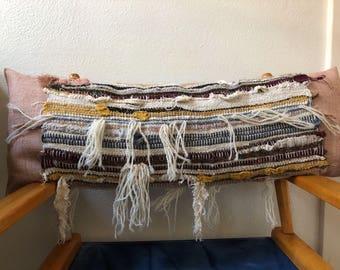 Hand woven, zero waste pillow