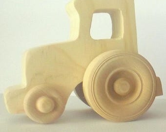 Little Wooden Farm Tractor - Handmade, Kids Toys, Farm Toy, Tractor, Wooden toys