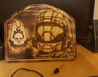 Halo ODST wood plaque