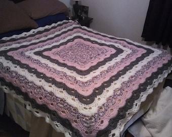 Virus Stitch Crocheted Afghan