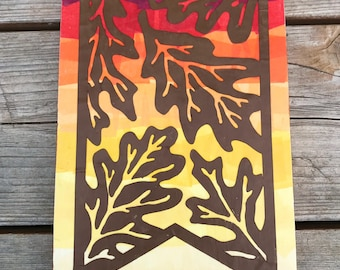 Fall wooden sign, Autumn wooden sign, Fall colors, Fall leaf sign, Fall decor, Autumn decor, Fall home decor, Fall sign, Wood leaf sign