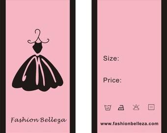 Custom dress tag, hang tag for dress, tag for dress