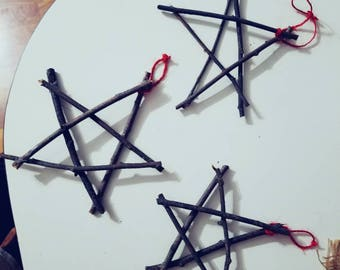 Rustic Star Ornaments