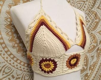 Sunflower Crochet Top