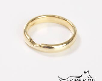 Chubbie Heavy Wedding Ring with Bite-Out. John Fox