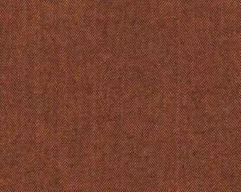 Shetland Flannel in Russet - Robert Kaufman cotton flannel fabric