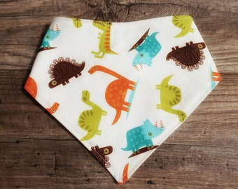 Bandana Bib | Dino | Bibdana | Teething | Baby | Drool Bib | Kenton Creations | Dinosaur | Kenton Creations | Handmade in Canada