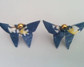 """""""Butterfly"""" (B_006) Golden Ball earrings"""