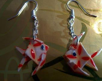 """""""Fish"""" - (P_010) silver hook earrings"""