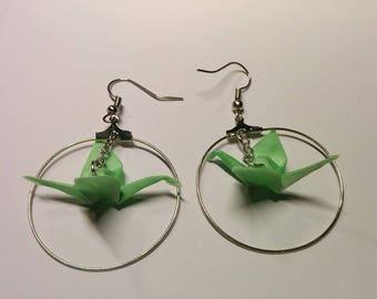 """""""Birds in flight"""" earrings in hoop (G_020)"""