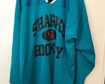 Vtg 90's Starter San Jose Sharks NHL Hockey Jersey Sz XL