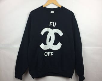 Chanel Sweatshirt Etsy