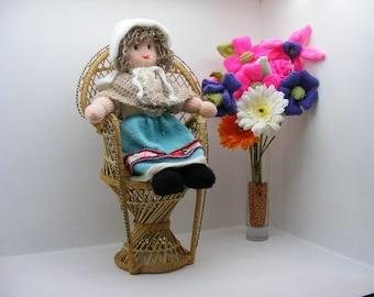 Narrowboat folk doll