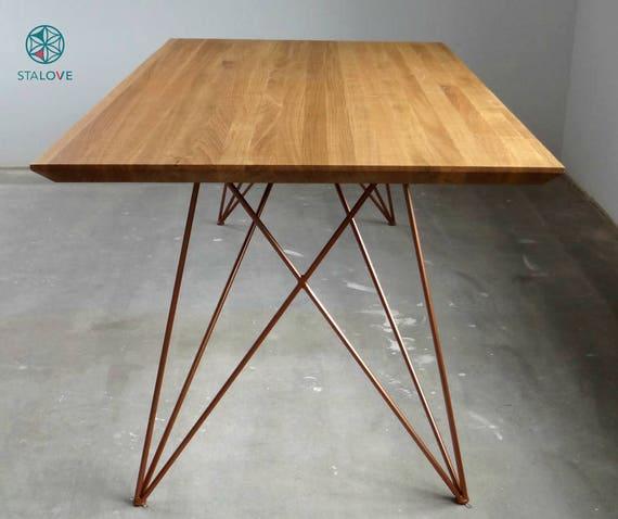 copper color promo price set of steel dine table legs. Black Bedroom Furniture Sets. Home Design Ideas