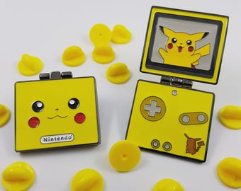 Pikachu Gameboy Advance SP Hinged Enamel Pin