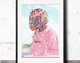 Frank Ocean - IVY / Blond / Blonde Lyric Poster Artwork Print - Limited Edition!