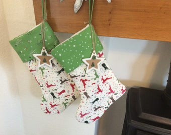 Last One! Handmade Christmas  Stocking, Christmas Decor,Gift Idea, Home Decor